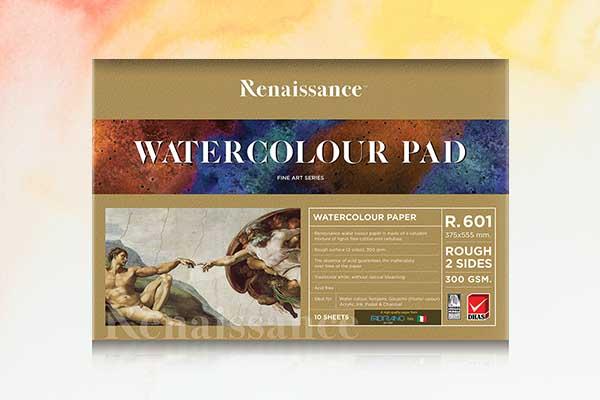 สมุดวาดเขียนสีน้ำ Renaissance