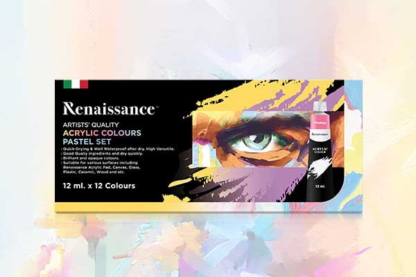 ชุดสีอะคริลิคสีพาสเทล Renaissance